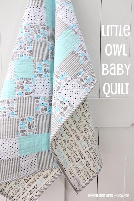 Little Owl Baby Quilt Beech Tree Lane Handmade