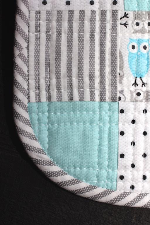 Little Owl Bib Detail Binding