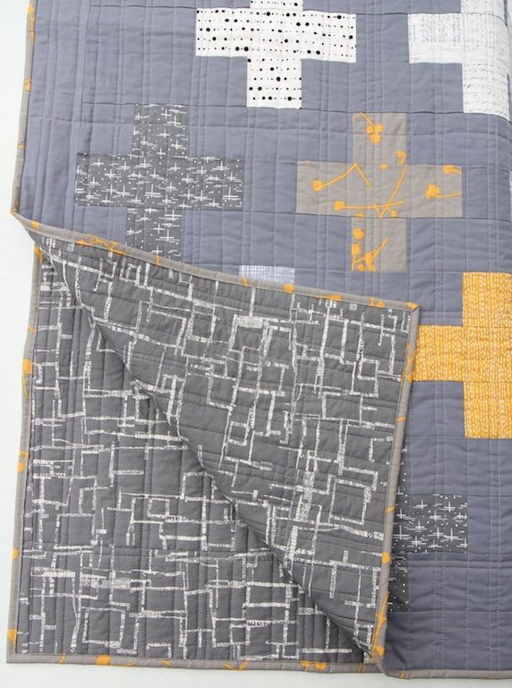 Pllus Quilt back and front