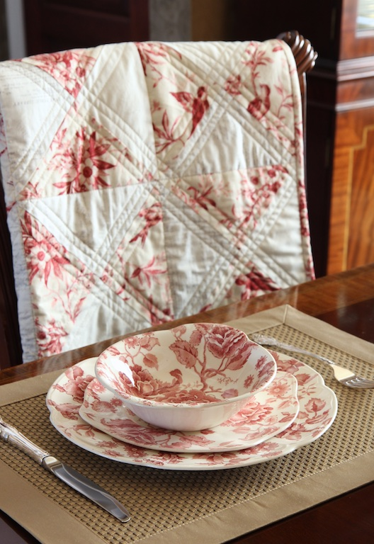 English China Quilt with china