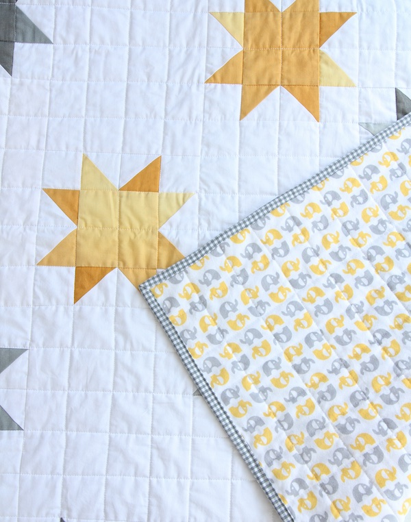 Ombre Sunshine Quilt back