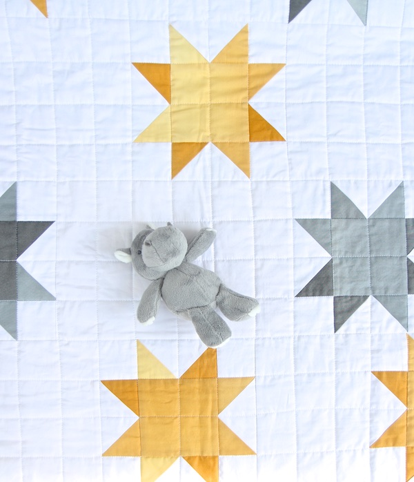 Ombre Sunshine Quilt with toy