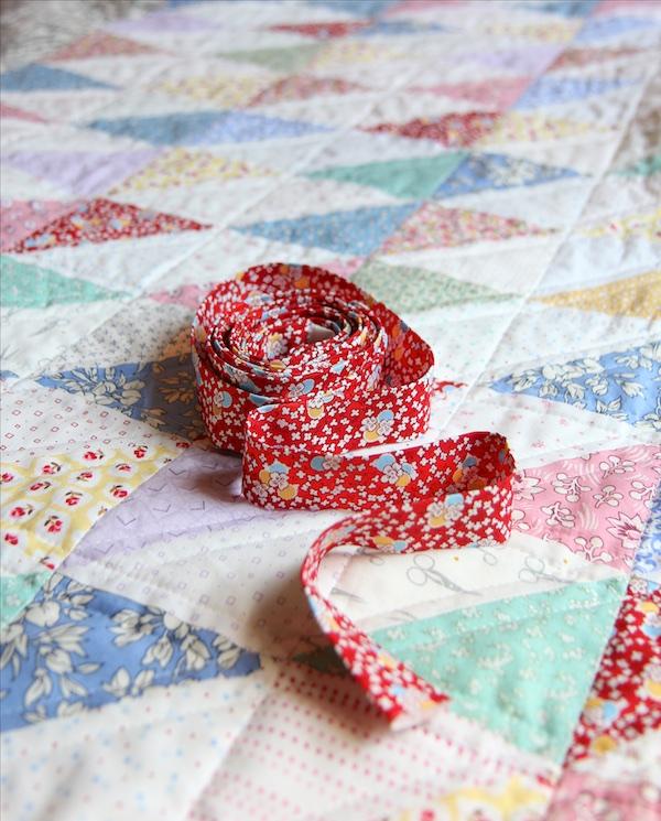 30's Scrap Quilt Binding