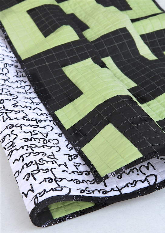 Mixed Up Maze Quilt folded