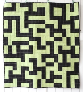 Mixed Up Maze Quilt Front