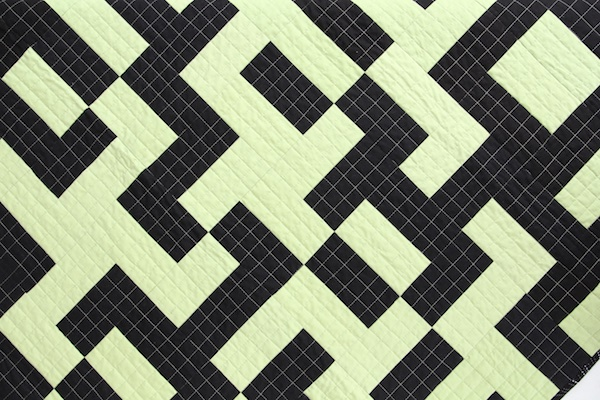 Mixed Up Maze Quilt overhead