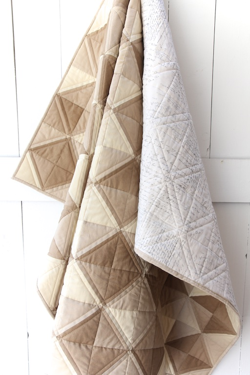 taupe-ombre-quilt-hanging