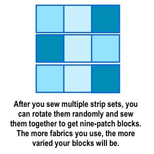 nine patch block 3