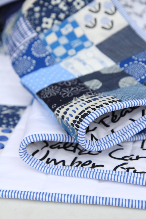 Nine Patch Blues binding detail