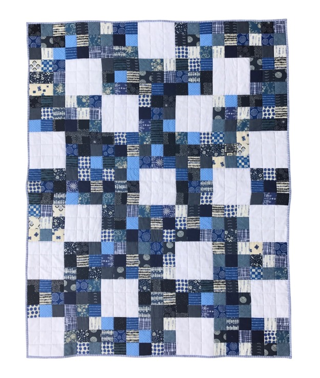 Nine Patch Blues Quilt Front