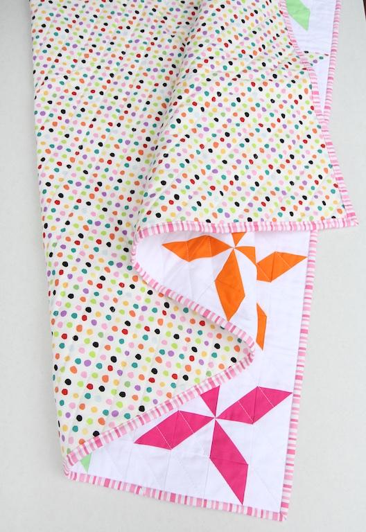 Pinwheel Quilt folded