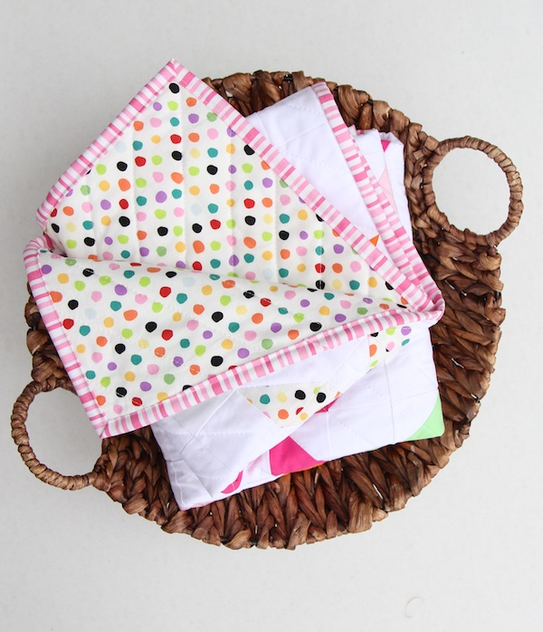 Pinwheel Quilt in Basket