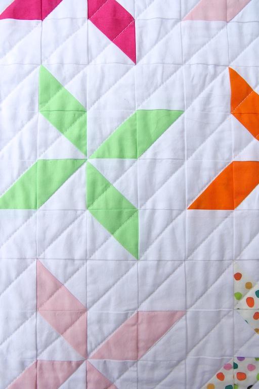 Pinwheel Quilt stitching