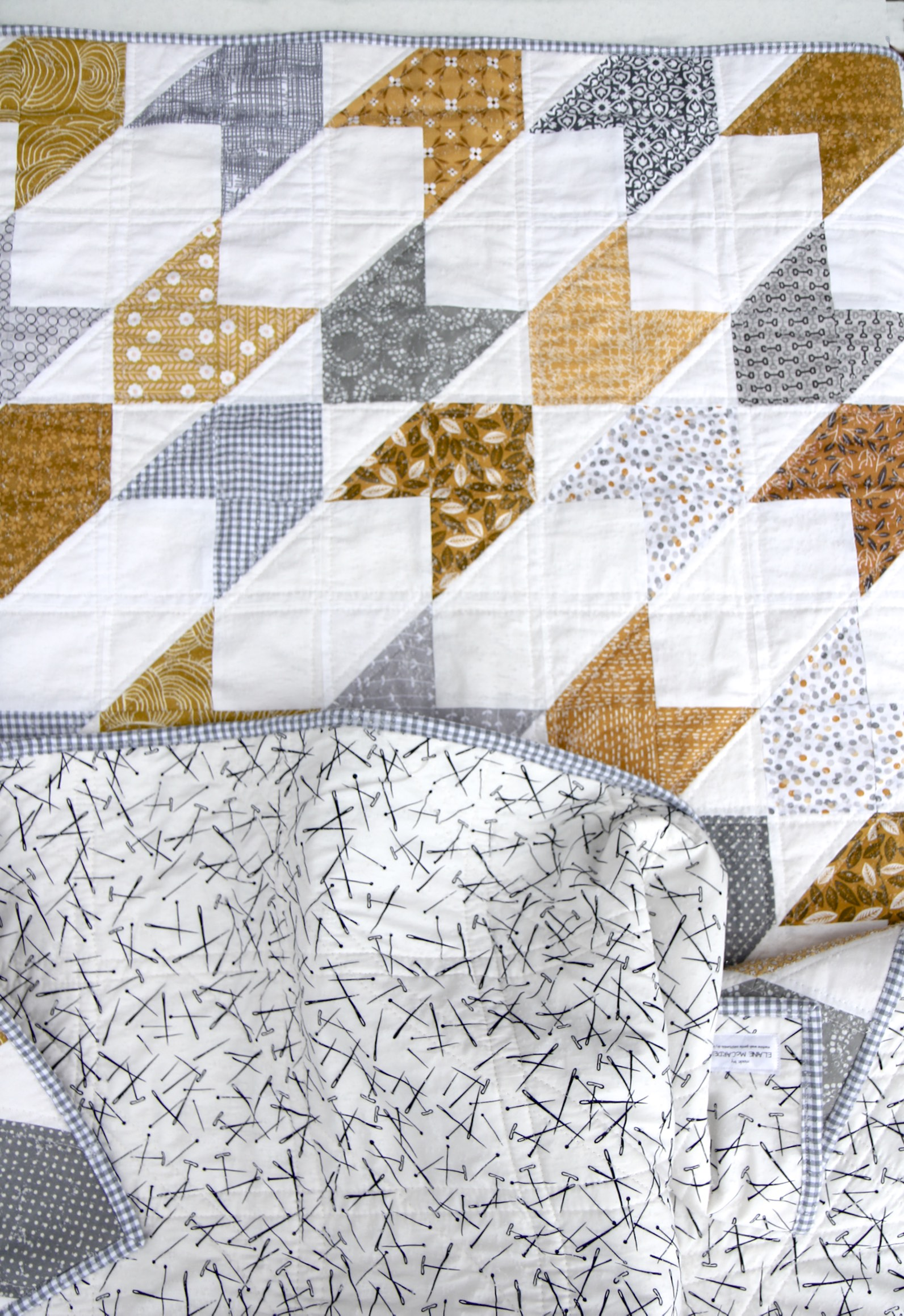 Arrow Quilt top:back