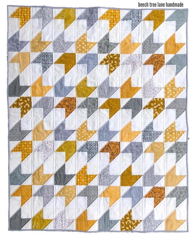 Grey Mustard Quilt