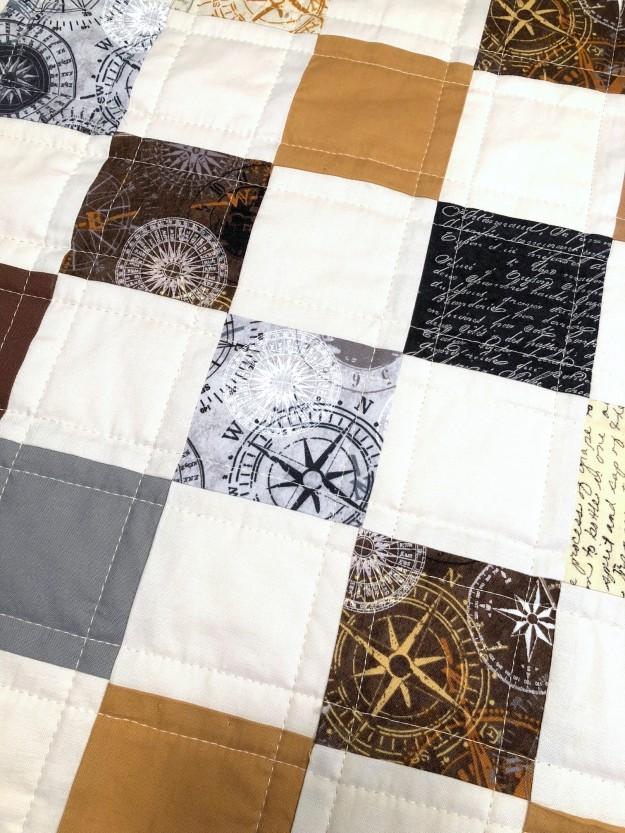 Compass Quilt fabric varation