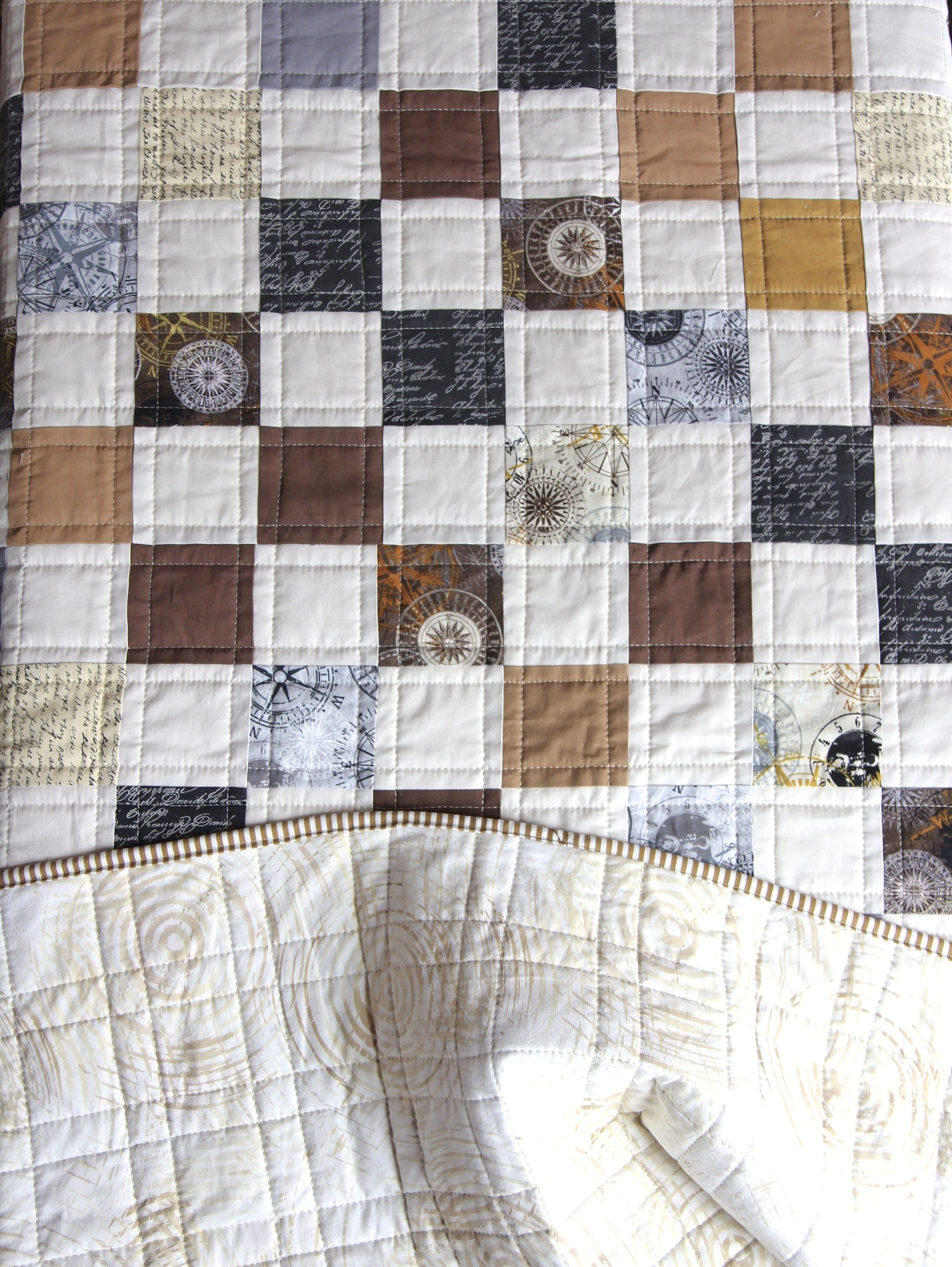 Compass Quilt front and back