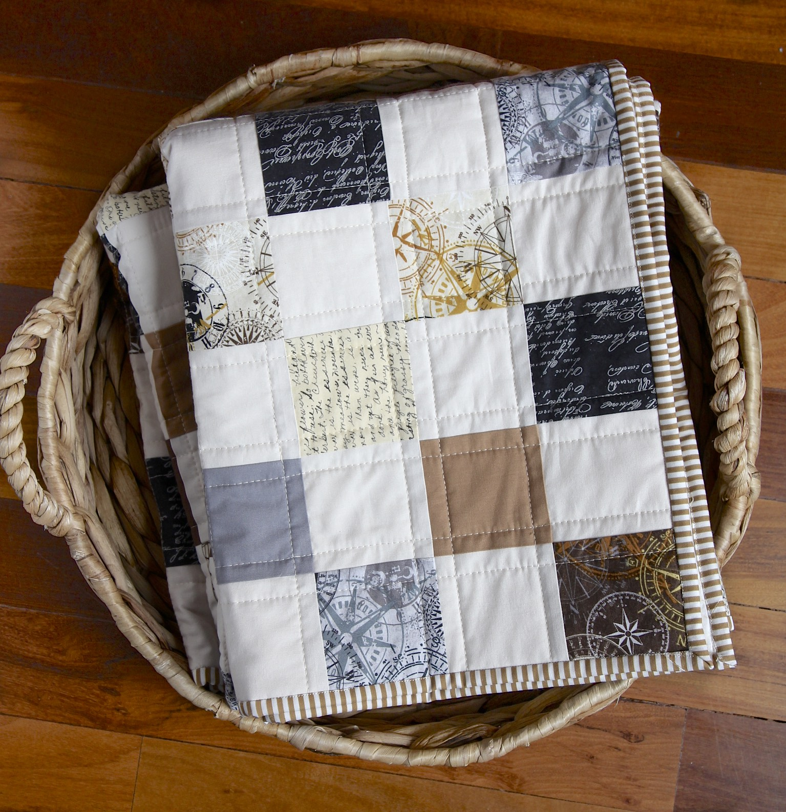 Compass Quilt in basket