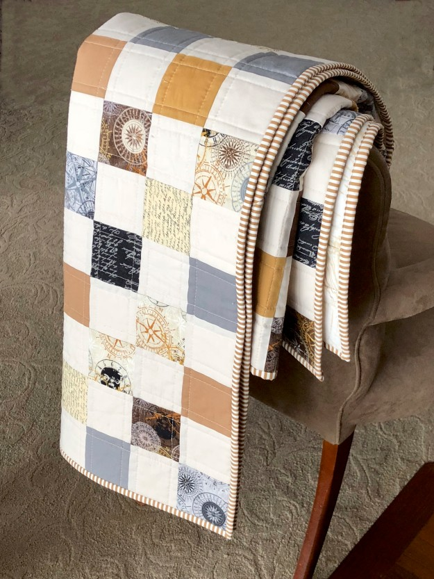 Compass Quilt over chair