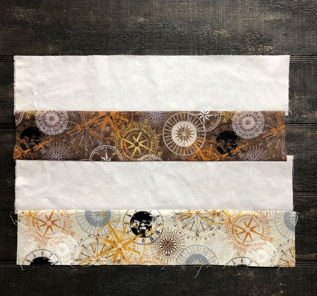 compass strips sewn together