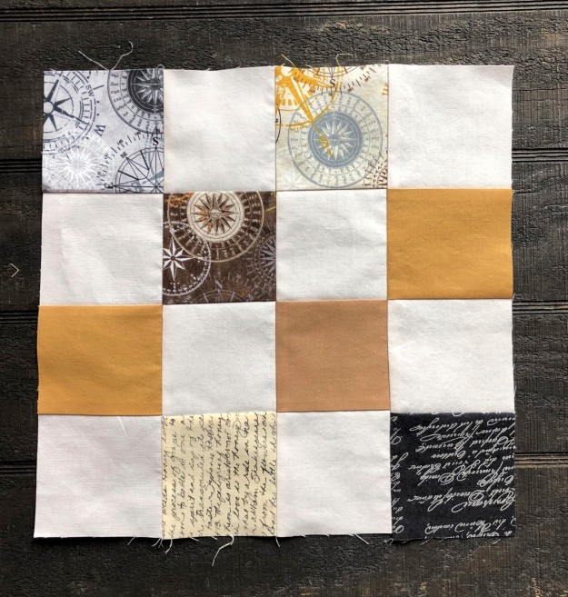finished compass block