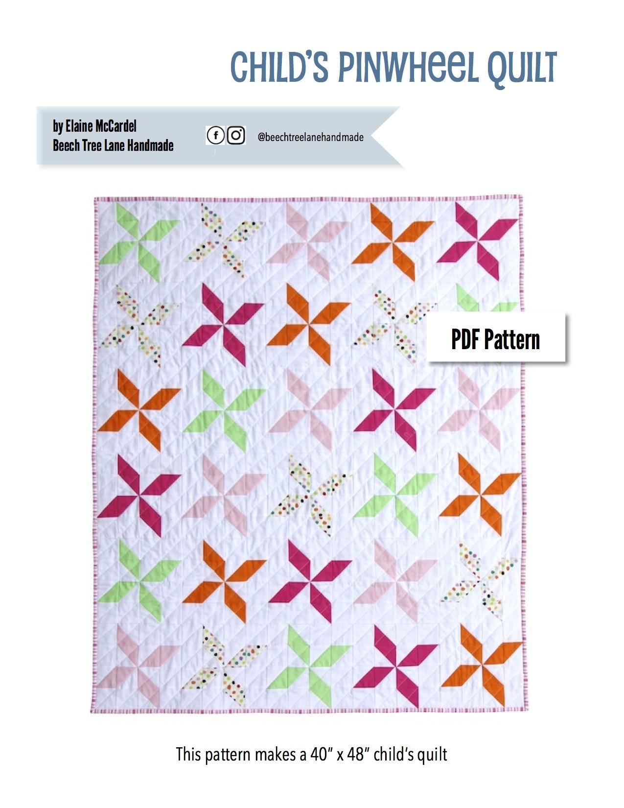 Child's Pinwheel Quilt PDF Pattern