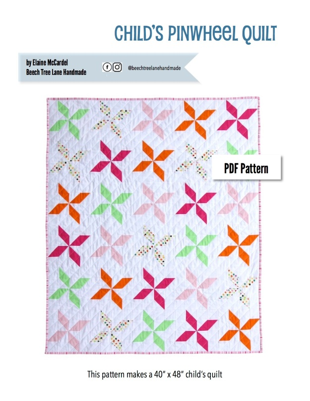 Child's Pinwheel Quilt PDF Pattern