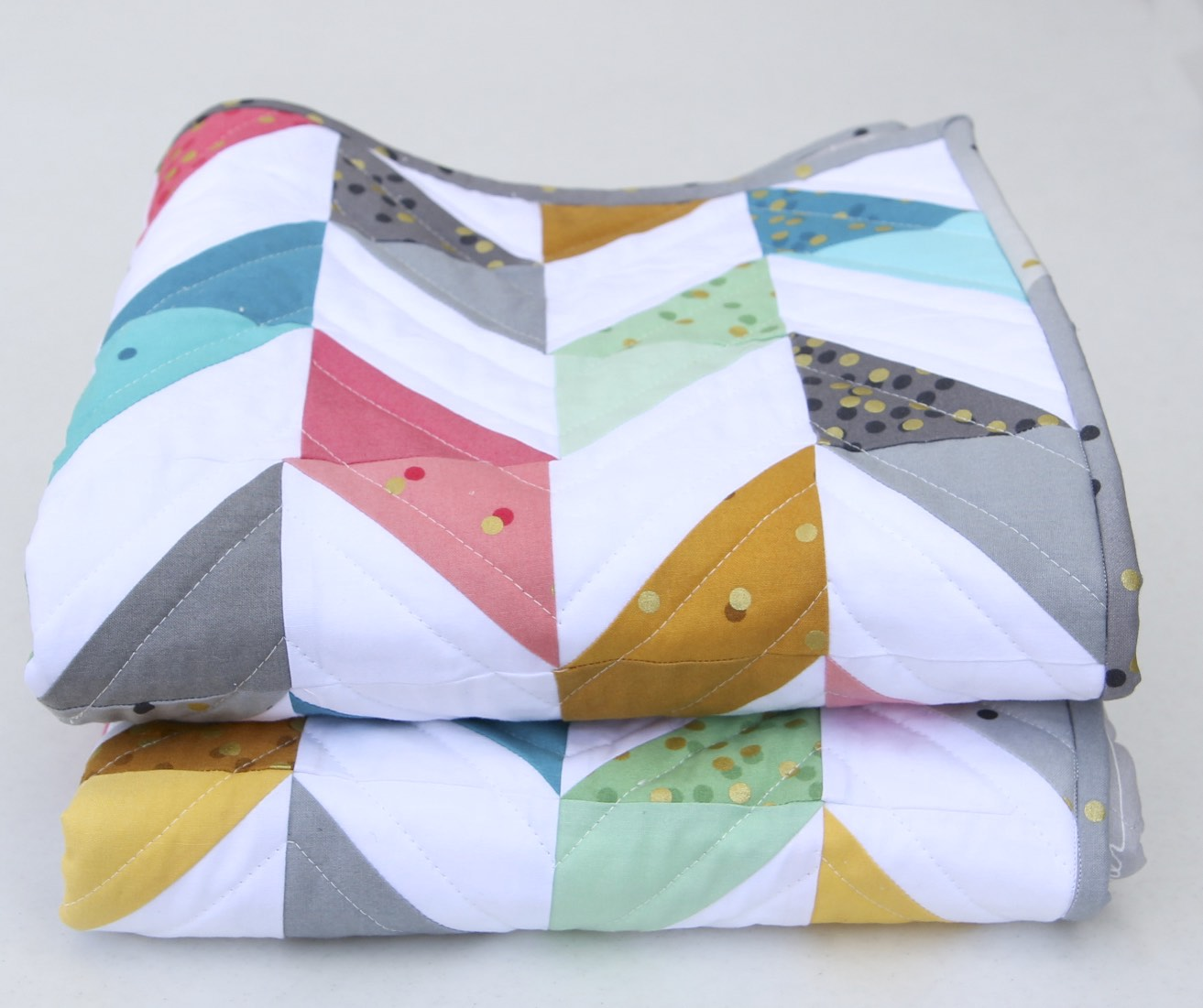 Herringbone Quilt Folded