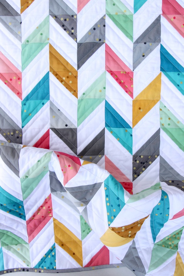 Herringbone Quilt Front Scrunched