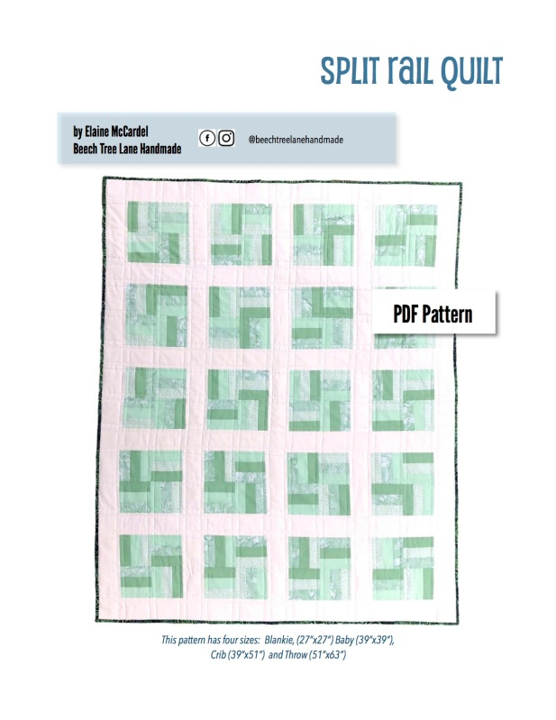 Split Rail Quilt Pattern Cover Page