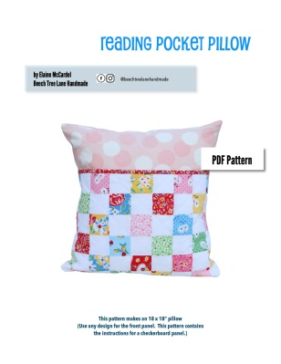 Reading Pocket Pillow Pattern Cover Page